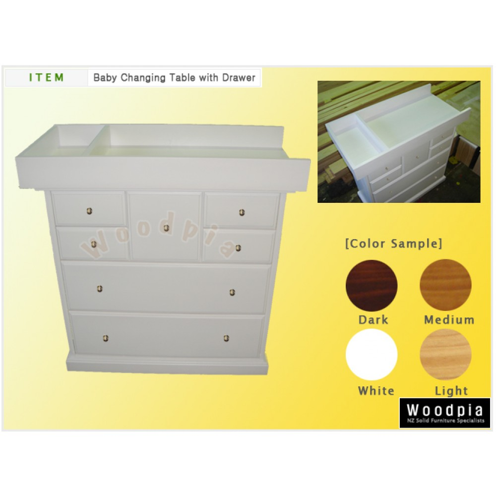 woodpia baby change table w. Black Bedroom Furniture Sets. Home Design Ideas
